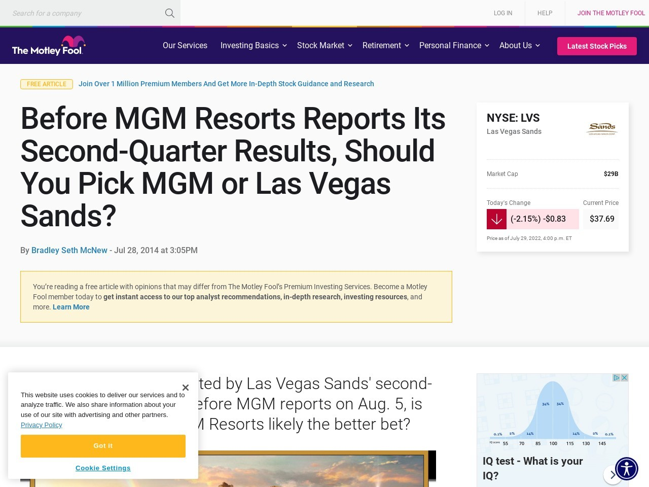 Before MGM Resorts Reports Its Second-Quarter Results, Should You Pick MGM …