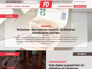 Capture d'écran pour force-ouvriere.fr
