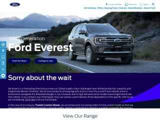 Screenshot for ford.co.nz