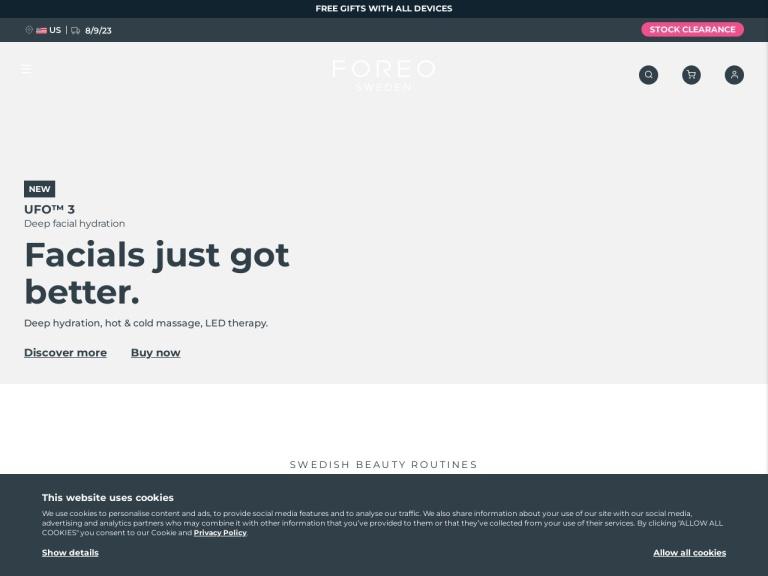 Foreo screenshot