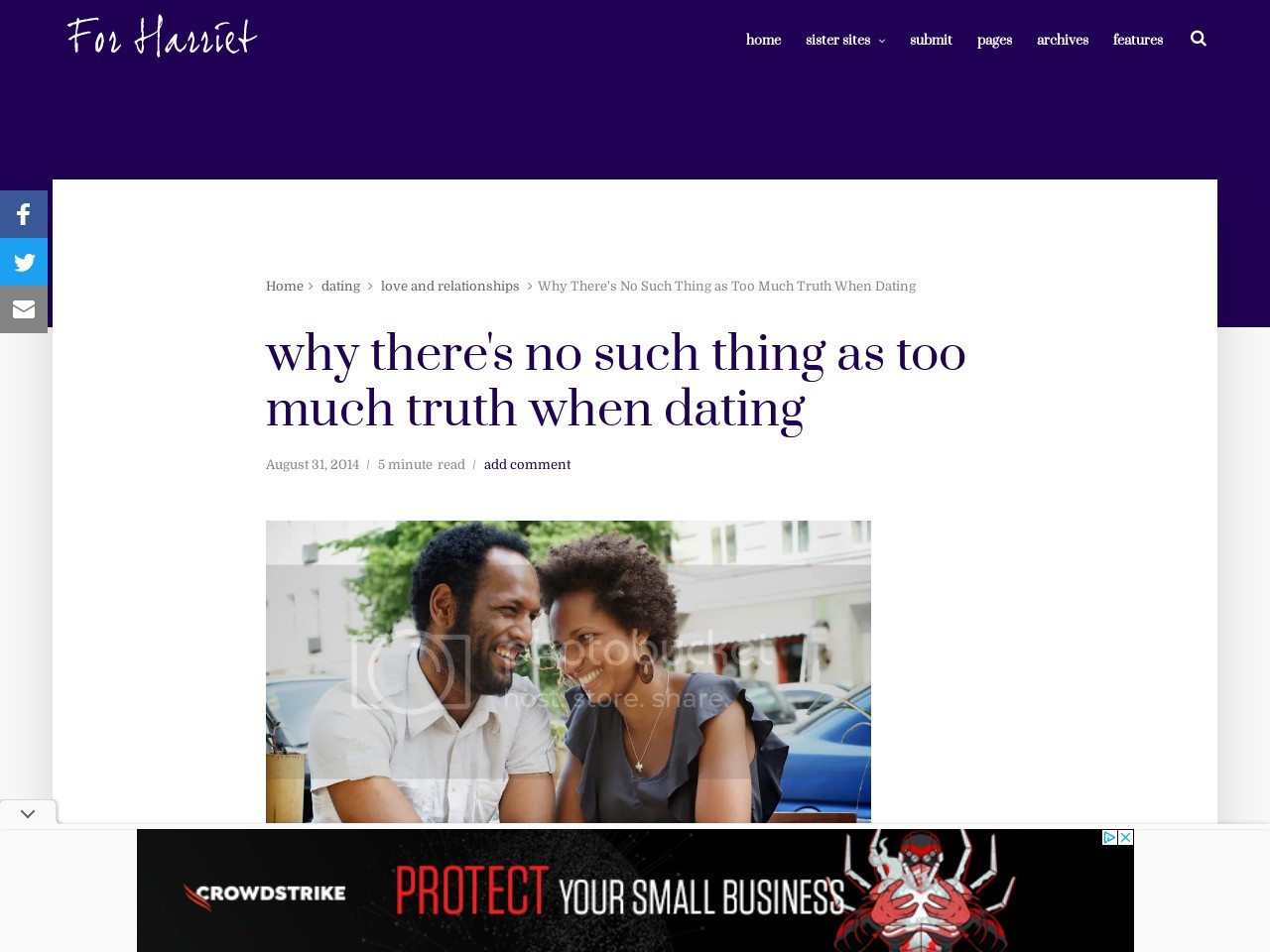 Why There's No Such Thing as Too Much Truth When Dating