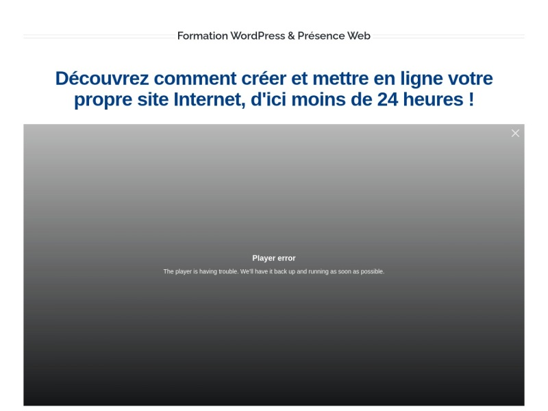 formation wordpress en video
