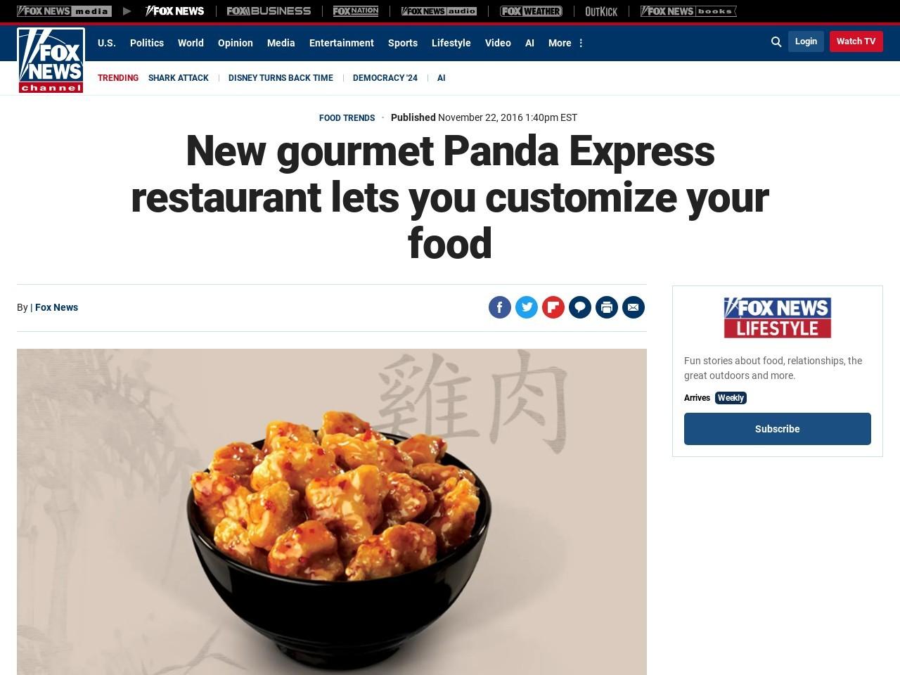 New gourmet Panda Express restaurant lets you customize your food