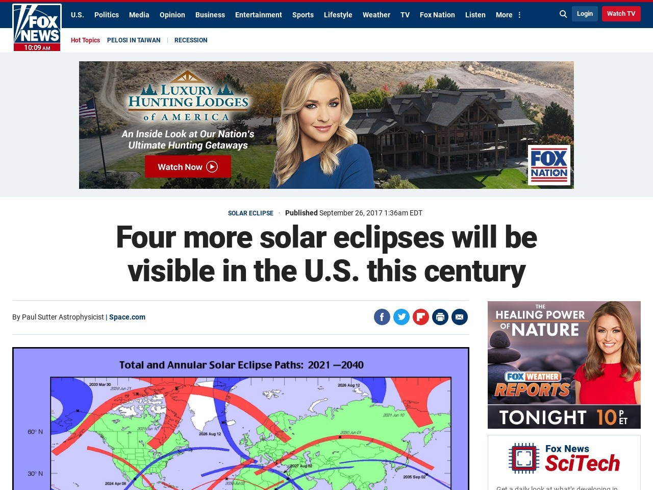 Four more solar eclipses will be visible in the U.S. this century