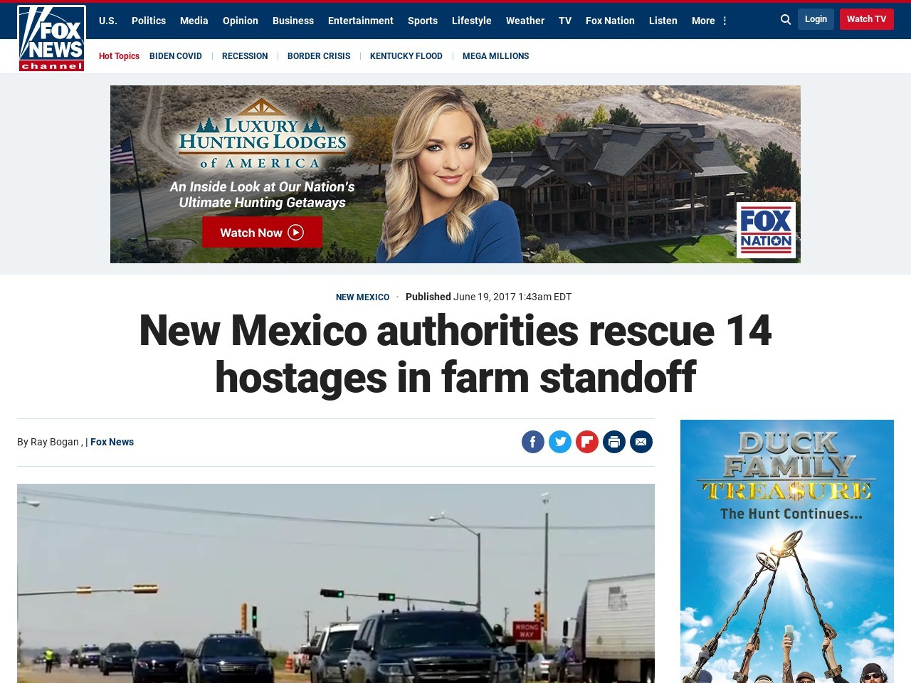 New Mexico authorities rescue 14 hostages in farm standoff