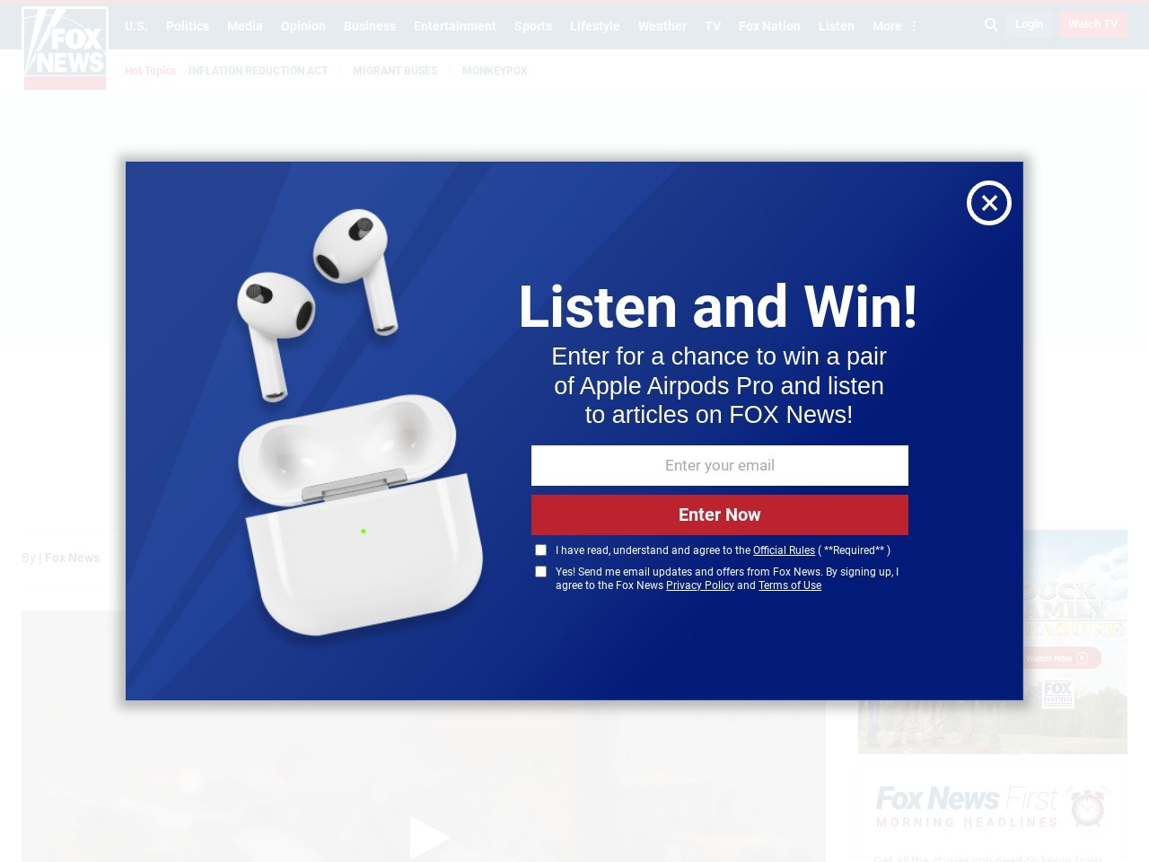 Air Force Thunderbird plane involved in 'mishap' in Ohio