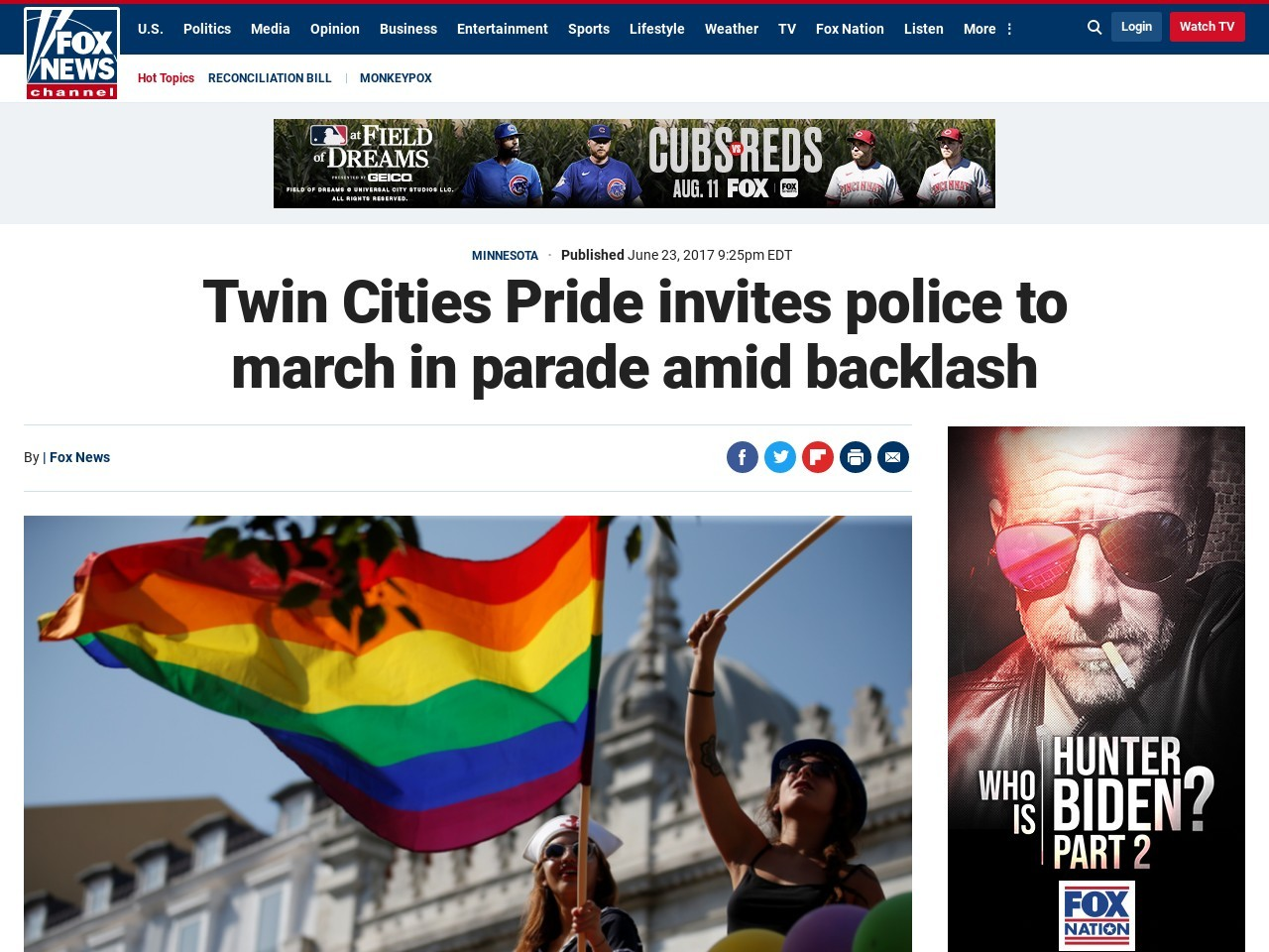 Twin Cities Pride invites police to march in parade amid backlash