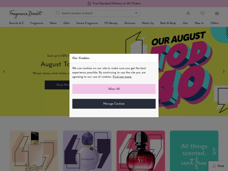 Fragrance Direct Free Delivery screenshot