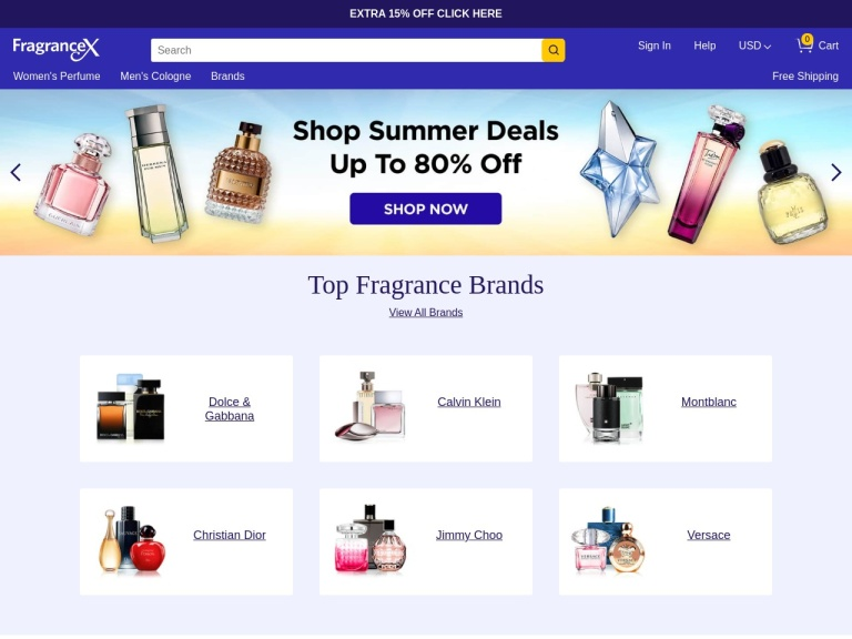 Fragrancex.com screenshot