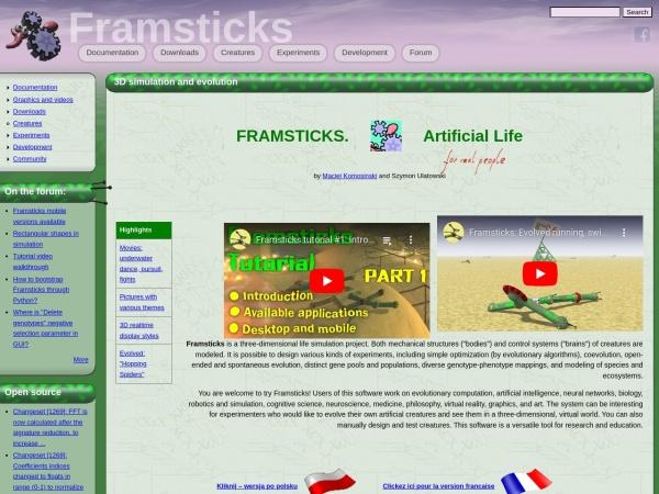 http://www.framsticks.com/