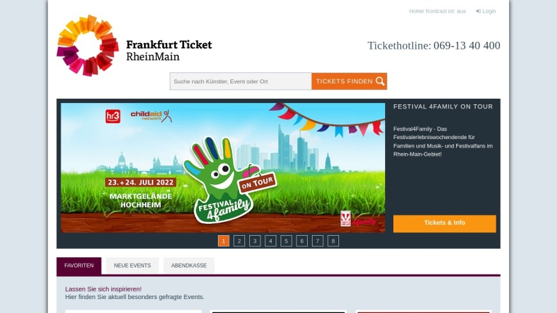 www.frankfurt-ticket.de Vorschau, Frankfurt Ticket RheinMain GmbH