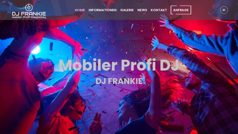 www.frankie.cc Vorschau, DJ Frankie