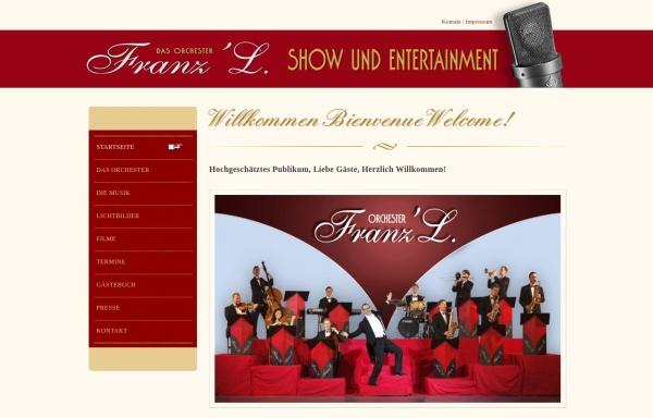 Vorschau von www.franz-l.de, Das ORCHESTER Franz'L.