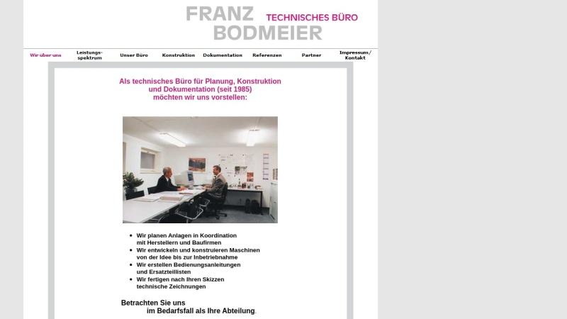 www.franzbodmeier-technischesbuero.de Vorschau, Technisches Büro - Franz Bodmeier