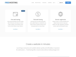 Screenshot for freehosting.com