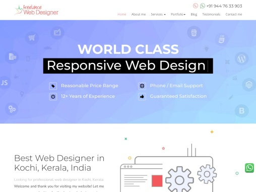 Professional web designers   Website designers in kochi