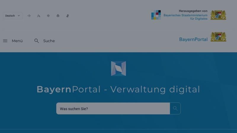 www.freistaat.bayern Vorschau, BayernPortal