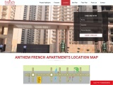 French Apartments Noida Location Map