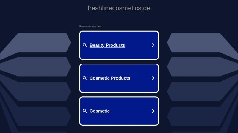 www.freshlinecosmetics.de Vorschau, Freshline Cosmetics Germany GmbH