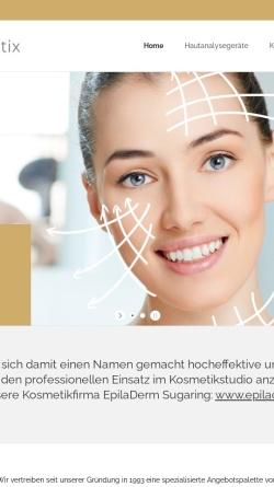 Vorschau der mobilen Webseite www.friis-cosmetix.de, Olav Friis Cosmetix
