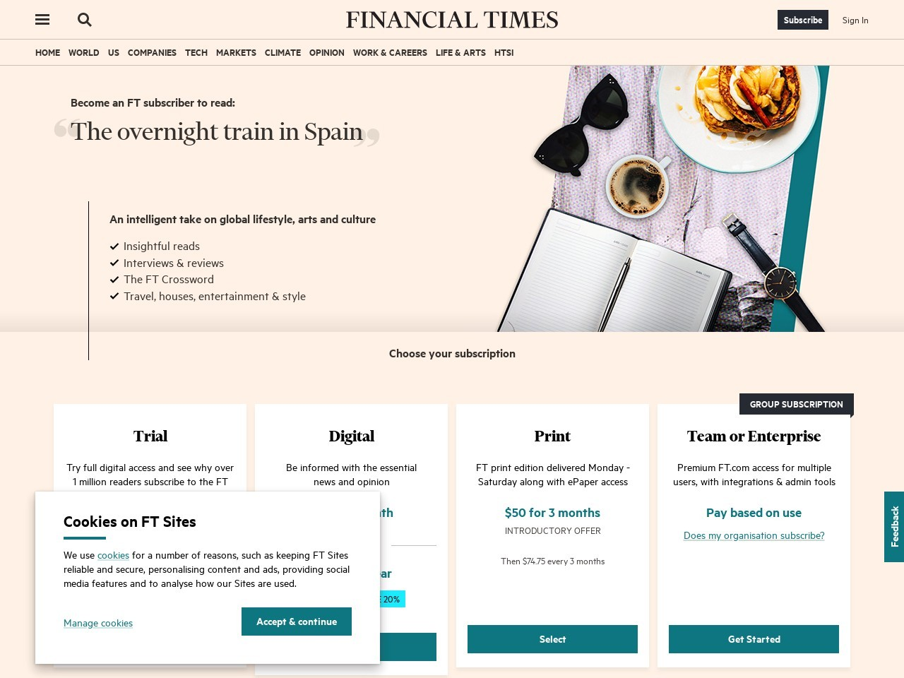 The overnight train in Spain