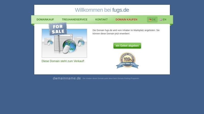 www.fugs.de Vorschau, Verein zur Förderung des Umwelt-, Gesundheits- und Sicherheitsverhaltens e.V.