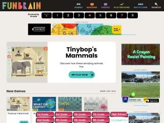 Screenshot for funbrain.com