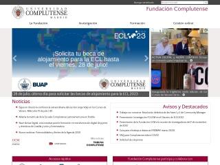 Captura de pantalla para fundacionucm.es