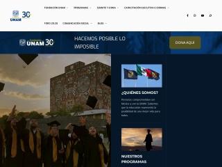 Captura de pantalla para fundacionunam.org.mx