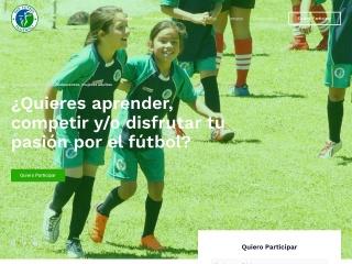 Captura de pantalla para futbolfemenino.cl