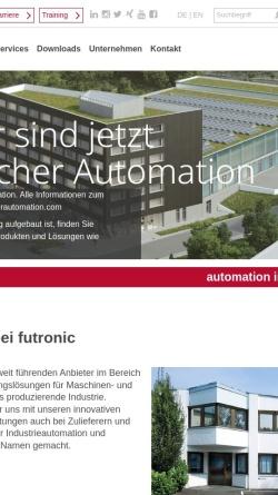 Vorschau der mobilen Webseite www.futronic.de, futronic GmbH