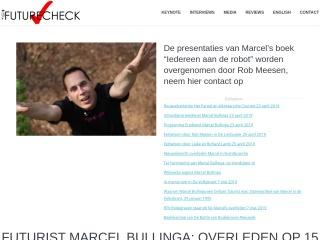 Screenshot voor futurecheck.nl