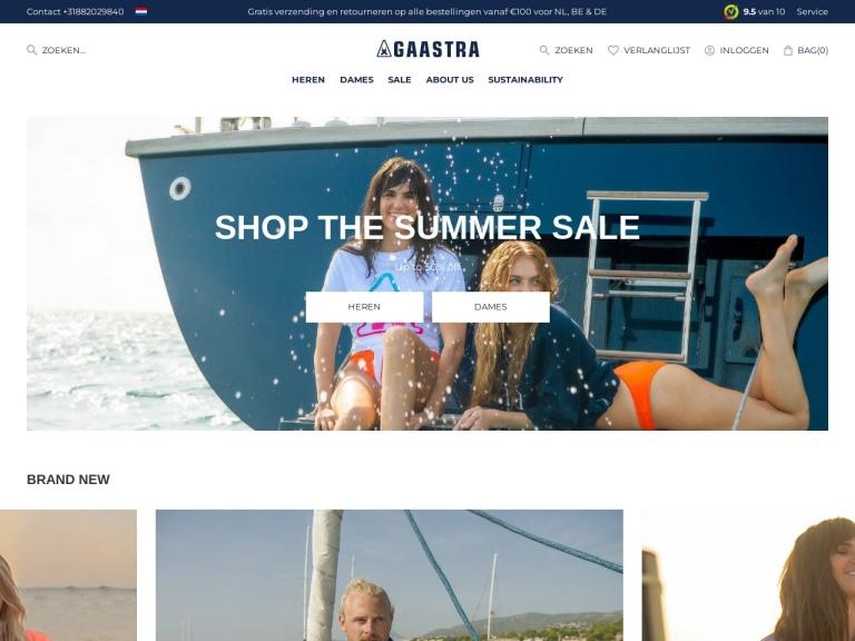 Gaastra E-Store screenshot