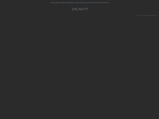 Screenshot do site galaia.pt