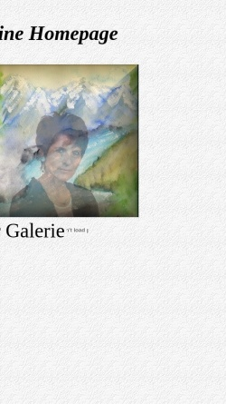 Vorschau der mobilen Webseite www.galerie-maria.keepfree.de, Galerie Maria