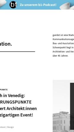 Vorschau der mobilen Webseite www.gambit-do.de, Gambit Marketing & Communication GmbH