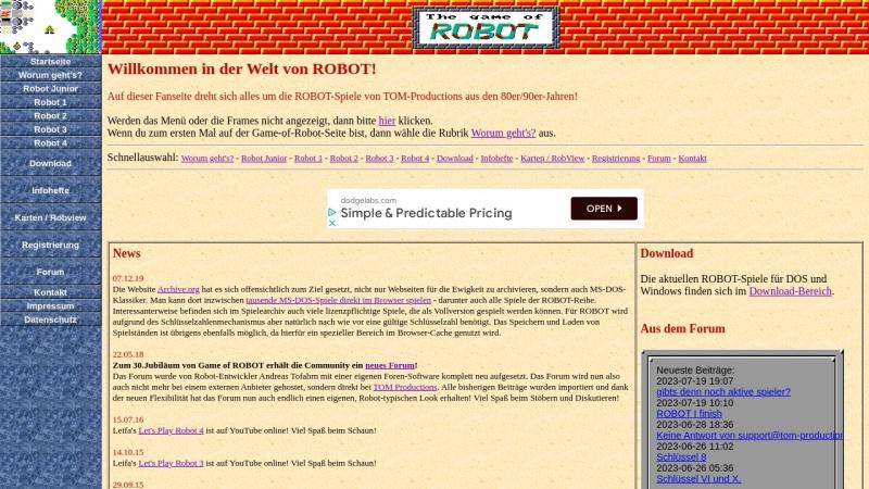 www.game-of-robot.de Vorschau, The Game of Robot