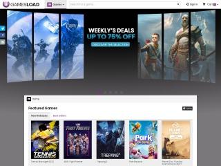 Screenshot der Website gamesload.de