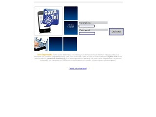 Captura de pantalla para ganatel.com.mx