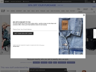 Screenshot for gap.com