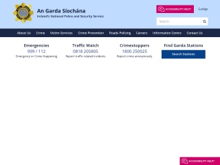 Screenshot for garda.ie