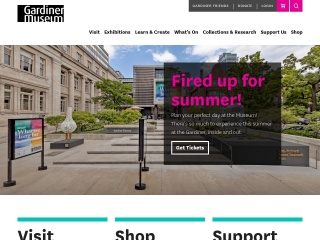 Screenshot for gardinermuseum.on.ca