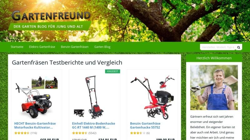 www.gartenfraese-experte.de Vorschau, Gartenfreunde - der Gartenblog für Jung und Alt