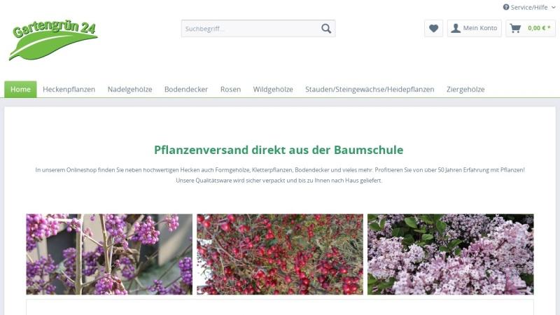 www.gartengruen-24.de Vorschau, Gartengrün 24
