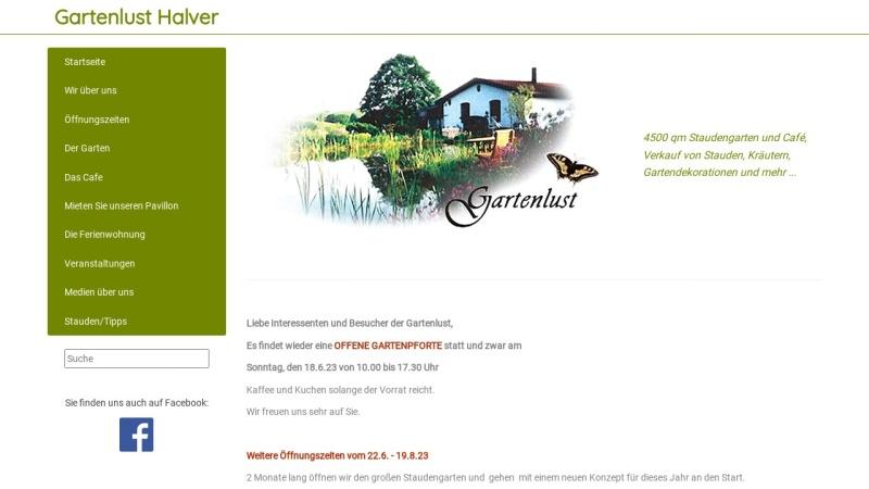www.gartenlust-halver.de Vorschau, Gartenlust Halver
