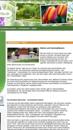 Vorschau der mobilen Webseite www.gartenpflanzen-infos.de, Gartenpflanzen