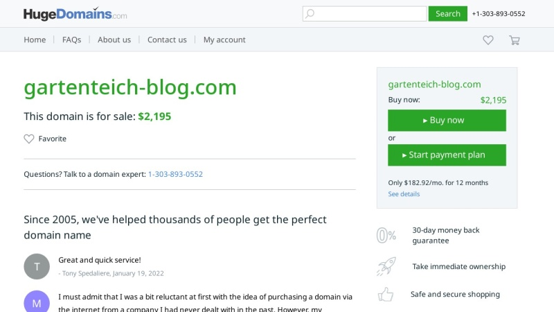 www.gartenteich-blog.com Vorschau, Gartenteich Blog
