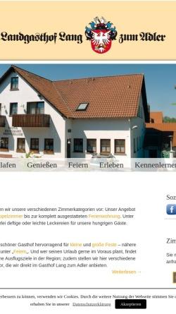 Vorschau der mobilen Webseite www.gasthof-lang.de, Landgasthof Zum Adler