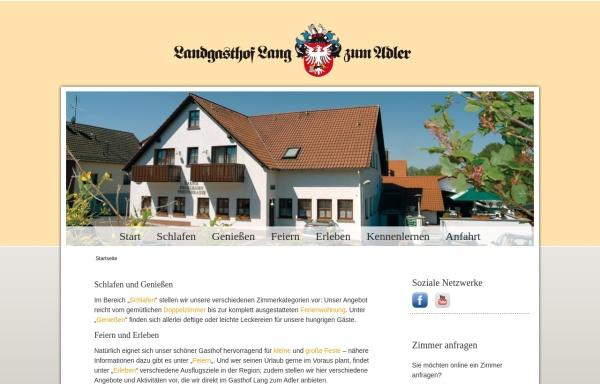 Vorschau von www.gasthof-lang.de, Landgasthof Zum Adler