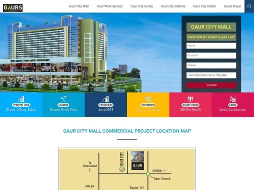 Gaur City Mall Noida Project Location